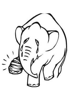ausmalbilder weinender elefant - elefanten malvorlagen