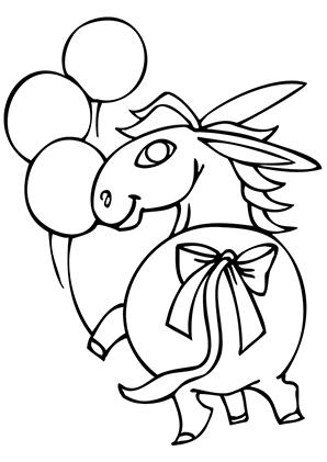 Ausmalbilder Esel Und Ballons Esel Malvorlagen