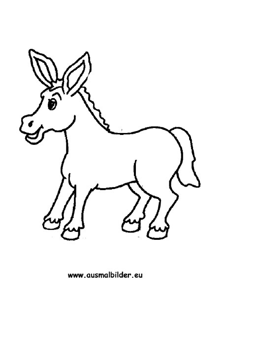 Ausmalbilder Esel - Esel Malvorlagen