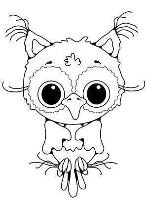 Ausmalbilder Baby Eule - Eulen Malvorlagen