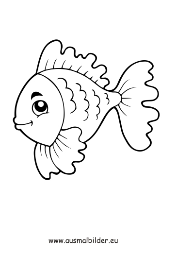 Ausmalbild Fisch Mit Schuppen Kostenlos Ausdrucken