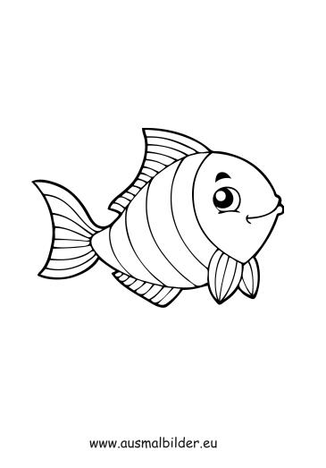 Ausmalbilder Gestreifter Fisch Fische Malvorlagen