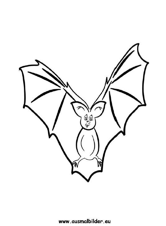 Ausmalbilder Fledermaus - Fledermäuse Malvorlagen
