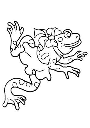 ausmalbilder frosch 2 - frösche malvorlagen