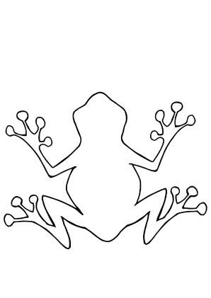 Ausmalbilder Frosch Umriss Frösche Malvorlagen