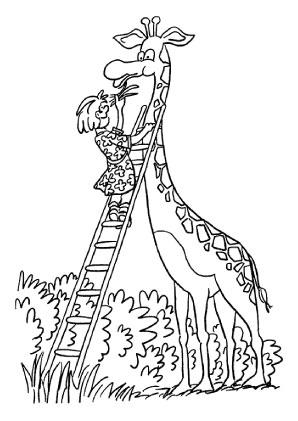 Ausmalbilder Giraffe Wird Gef 252 Ttert Giraffen Malvorlagen
