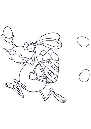 Ausmalbilder Hase Mit Rucksack Voller Eier Hasen Malvorlagen