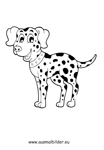 ausmalbild dalmatiner zum ausdrucken