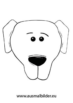 Ausmalbilder Hundekopf   Hunde Malvorlagen