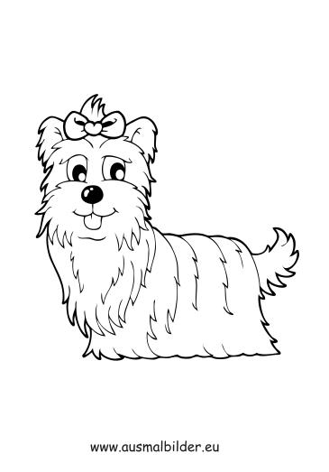 Ausmalbilder Terrier Dame Hunde Malvorlagen
