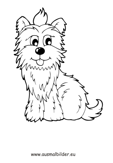 ausmalbilder terrier  hunde malvorlagen