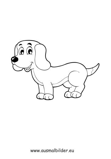 Ausmalbilder Welpe Hunde Malvorlagen