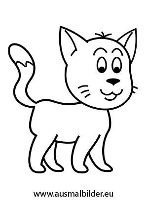 ausmalbilder junge katze - katzen malvorlagen
