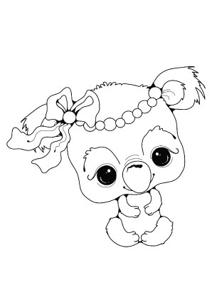 Coloring Page Of Baby Elephants