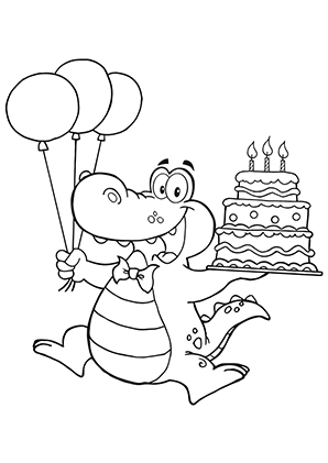 Ausmalbilder Geburtstags Krokodil Krokodile Malvorlagen