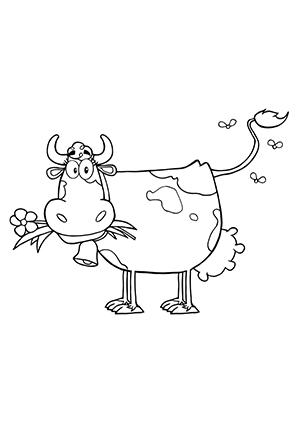 ausmalbilder glückliche kuh - kühe malvorlagen