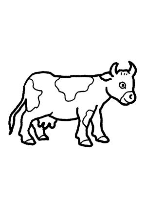 ausmalbild kuh mit kalb | kinder ausmalbilder