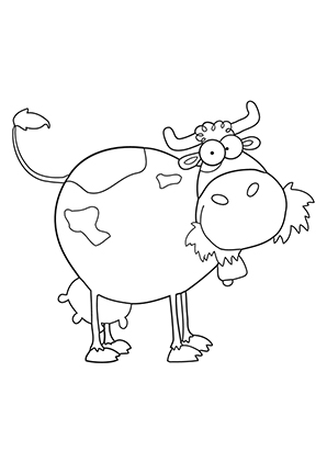 Ausmalbilder Kuh Frisst Heu Kühe Malvorlagen