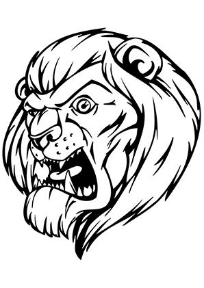 Ausmalbilder Brüllender Löwe Löwen Malvorlagen