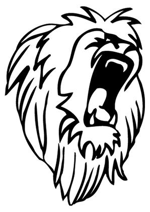 Ausmalbilder Brüllendes Löwenmaul Löwen Malvorlagen