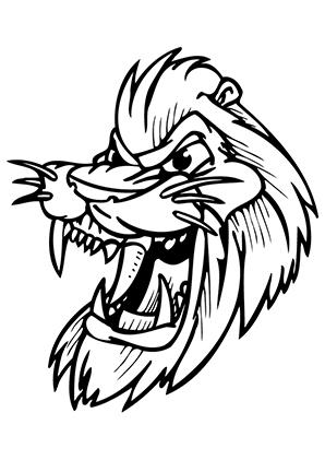 ausmalbilder lachender löwe - löwen malvorlagen