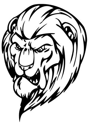 ausmalbilder löwe 1 - löwen malvorlagen