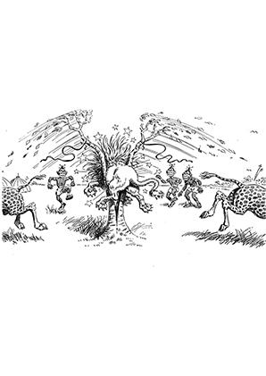 ausmalbilder löwe steckt fest - löwen malvorlagen