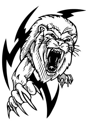 Ausmalbilder Löwen Tribal Löwen Malvorlagen