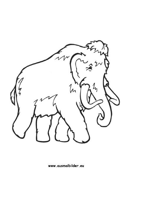 Ausmalbilder Mammut - Mammut Malvorlagen