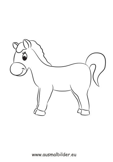 Ausmalbilder Kleines Pony Pferde Malvorlagen