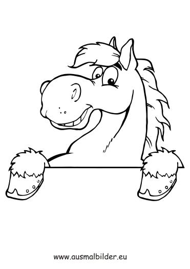 Ausmalbilder Pferdekopf - Pferde Malvorlagen