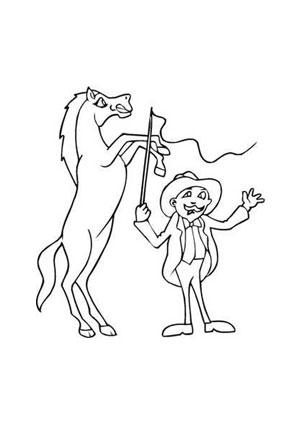 ausmalbild zirkuspferd zum ausdrucken