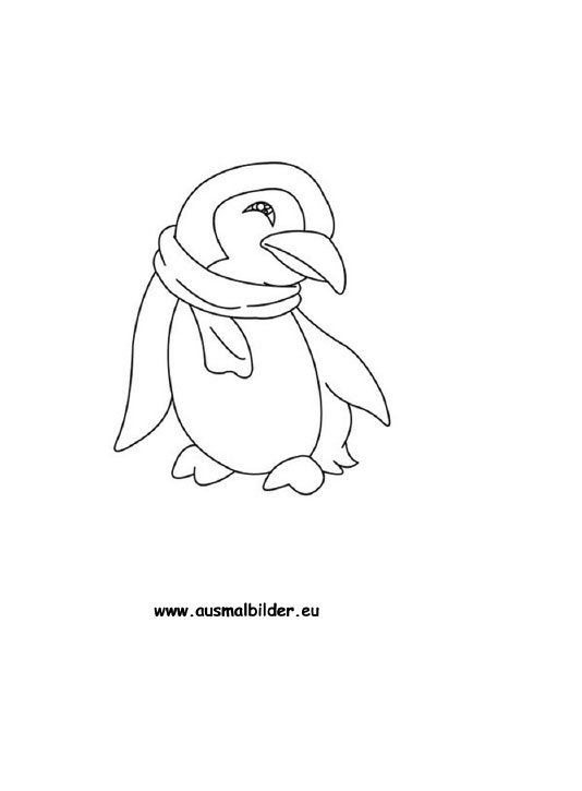 ausmalbild pinguin zum ausdrucken