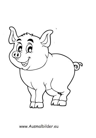Ausmalbilder kleines ferkel - schweine Malvorlagen