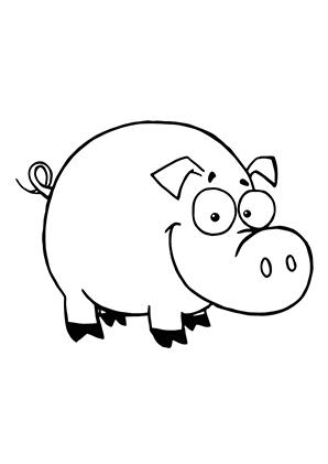 Ausmalbilder Schwein 2 - Schweine Malvorlagen