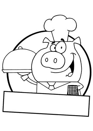 Ausmalbilder Schweinekoch Schweine Malvorlagen