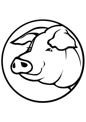 Ausmalbilder Schweinekopf 2 Schweine Malvorlagen