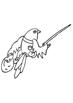 ausmalbild springender vogel zum ausdrucken