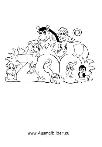 Ausmalbilder Zoo Zoo Malvorlagen
