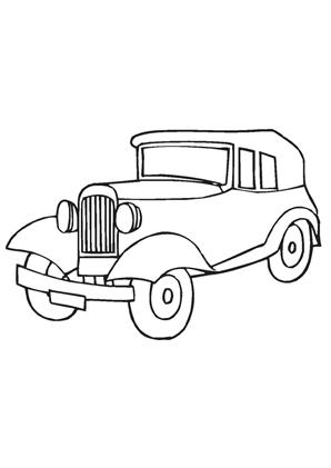 ausmalbilder auto oldtimer 29 - oldtimer malvorlagen