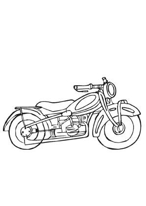 Ausmalbild Altes Motorrad Kostenlos Ausdrucken