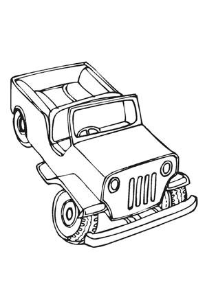 Ausmalbilder Armee Jeep Transport Malvorlagen