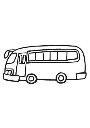 ausmalbilder bus transport malvorlagen. Black Bedroom Furniture Sets. Home Design Ideas