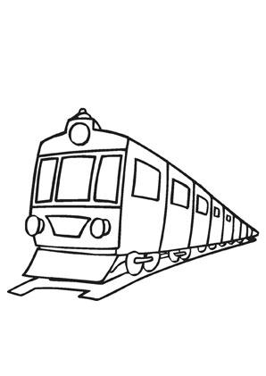 ausmalbilder eisenbahn - transport malvorlagen
