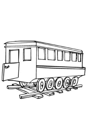 Ausmalbilder Eisenbahnwaggon Transport Malvorlagen