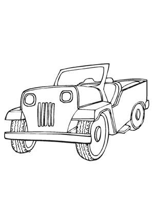Ausmalbilder Jeep Transport Malvorlagen