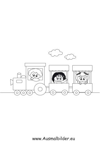 Ausmalbilder Kinder Im Zug Transport Malvorlagen