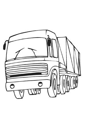 Ausmalbilder Lastwagen von vorne - Transport Malvorlagen