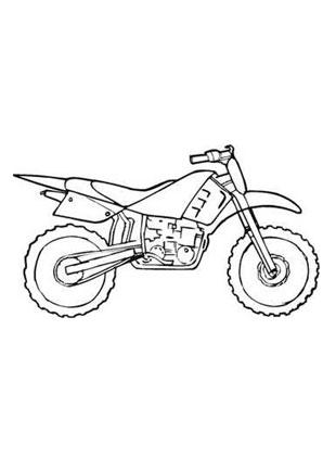 ausmalbilder moto cross - transport malvorlagen