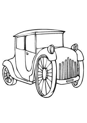 Ausmalbilder Oldtimer Transport Malvorlagen